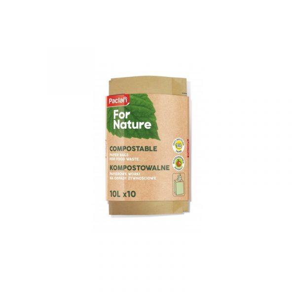 Ekologiczne worki na bioodpady z papieru 10 l Paclan