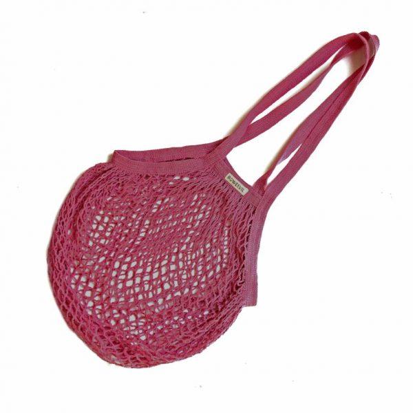 torba Bo Weevil, ekologiczna siatka paryżanka na zakupy różowa
