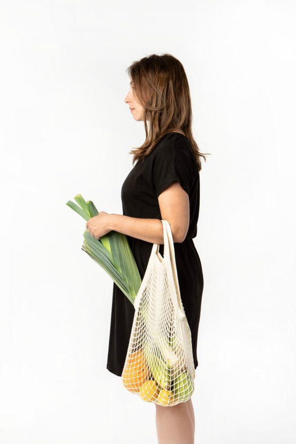 Ekologiczna torba z bawełny organicznej na zakupy