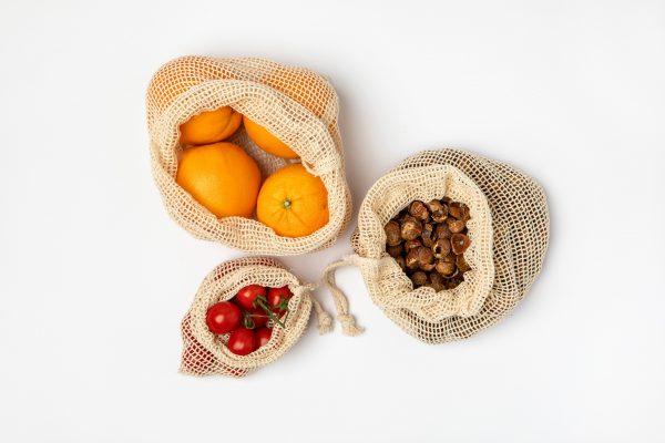 Wielorazowe woreczki na warzywa i owoce