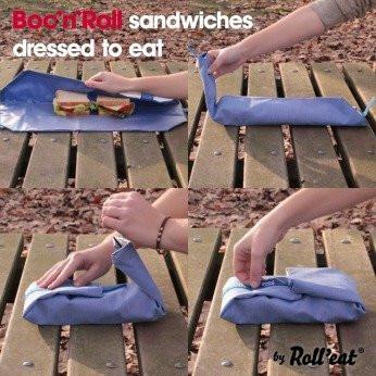 Owijka do żywności Boc' n' Roll to fantastyczna, wielorazowa chusta do zawijana kanapek, bagietek, owoców i innych smakołyków.