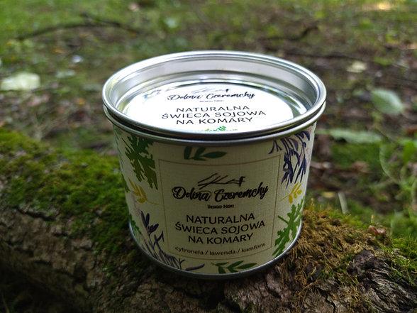 Dolina Czeremchy Naturalna świeca sojowa na komary