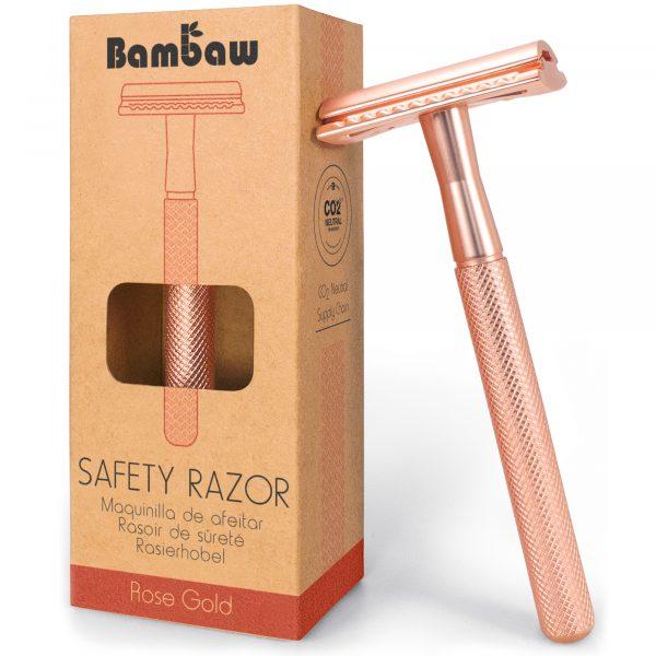 Bambaw Maszynka na wymienne żyletki Rosegold