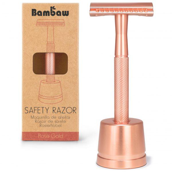 Maszynka do golenia na wymienne żyletki marki Bambaw Rosegold - różowe złoto