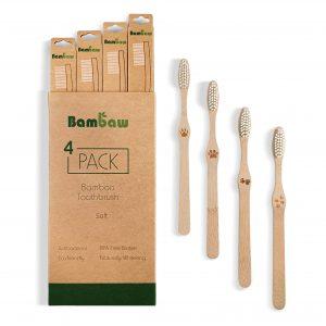 Bambusowe szczoteczki do zębów Bambaw