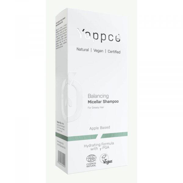 Micelarny, regulujący sebum szampon do włosów przetłuszczających się Yappco wegański