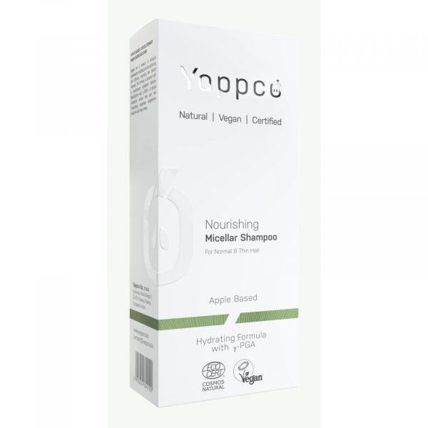 Micelarny, odżywczy szampon do włosów normalnych i cienkich Yappco