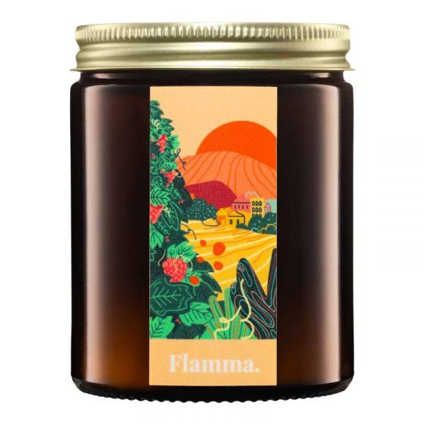 Naturalna świeca z wosku rzepakowego Flamma Prosecca w słoiku