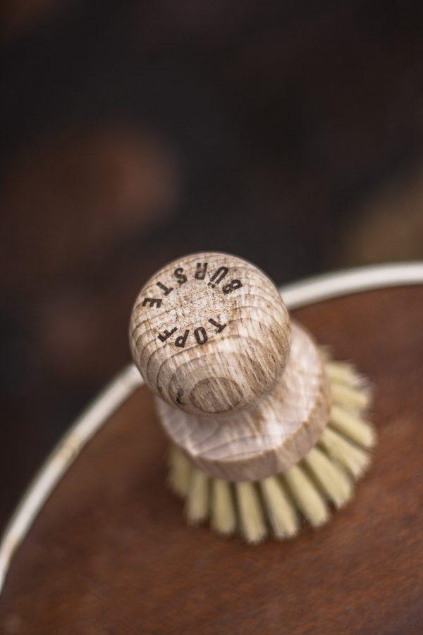 Grzybek drewniana szczotka do mycia naczyń Starmann Less Waste