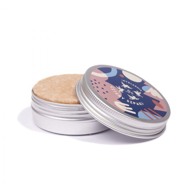 Okrągła puszka na szampon lub odżywkę w kostce
