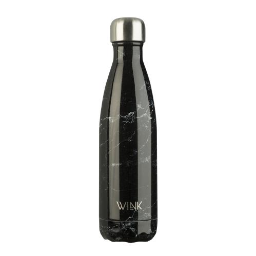 Butelka termiczna na wodę w kolorze czarnego marmuru Wink