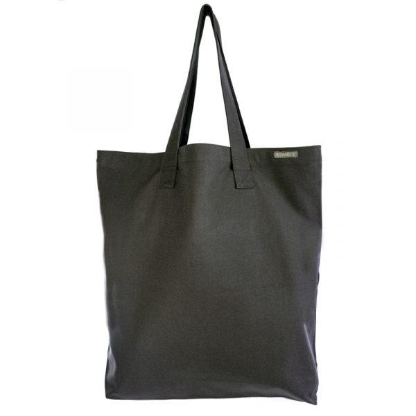 Torba półcenna na zakupy w kolorze Antracytowym, bawełna organiczna Bo Weevil