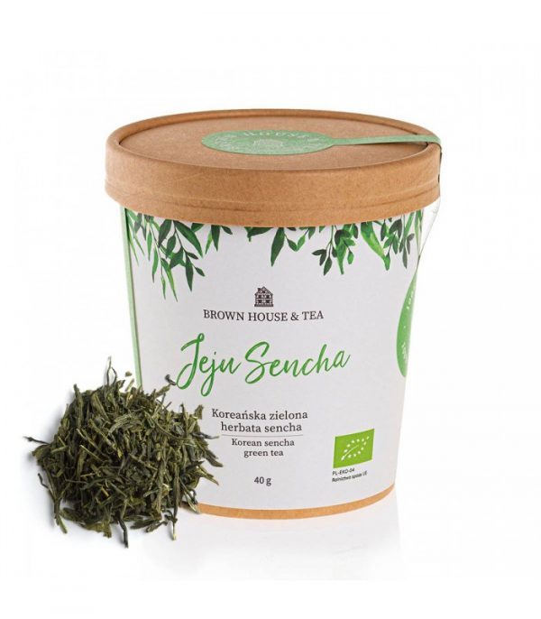 Jeju Sencha, zielona herbata, kraftowa, 40 g, Brown House & Tea