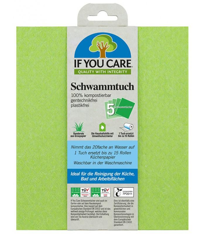Wielorazowe ścierki gąbczaste do używania w kuchni, łazience i w całym domu If You Care