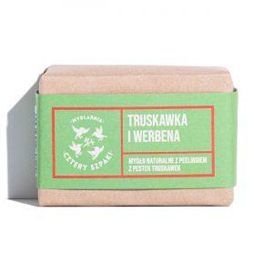 Cztery Szpaki, Naturalne mydło peelingujące Truskawka i Werbena Zero Waste