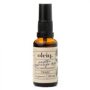 Olej z pestek czarnego bzu otrzymuje się w procesie tłoczenia na zimno. Jest cennym źródłem składników pozytywnie wpływających na skórę, w tym witaminy E.