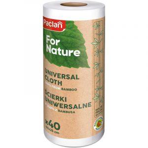 Ścierka na rolce z bambusa 40 szt Paclan Nature