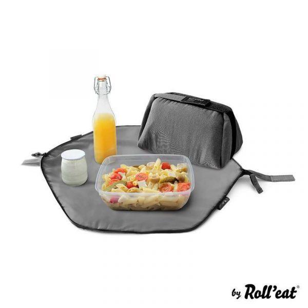 Torba termiczna piknikowa Roll'eat Eat'n'Out Nature czarny