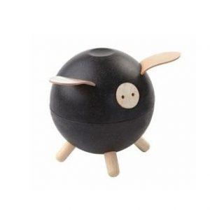 Czarna świnka skarbonka