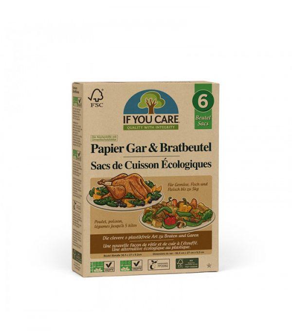 If You Care Kompostowalna torba do pieczenia mięsa i warzyw 6 szt.