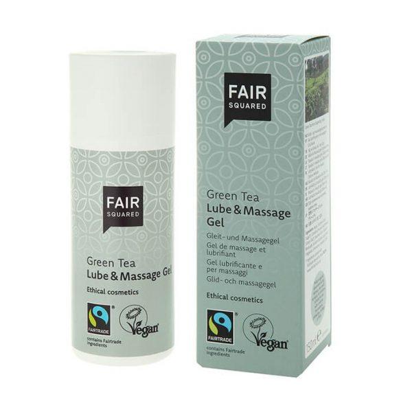 Żel do masażu, lubrykant, ZIELONA HERBATA, łagodzący, regenerujący, certyfikowany FAIRTRADE Fair Squared